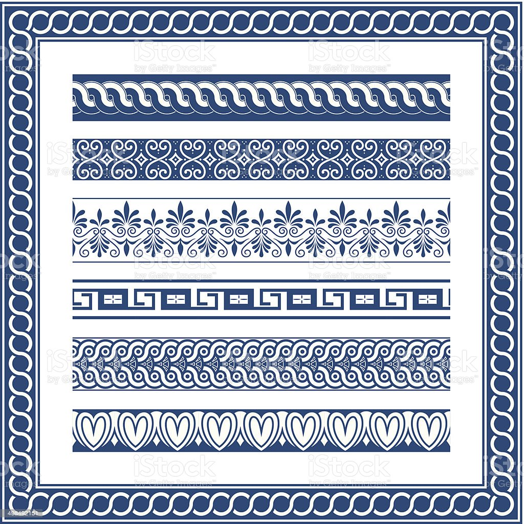 Lovely Christmas Ornament Frame #1: The-frames-of-ancient-greek-style-vector-id498492151