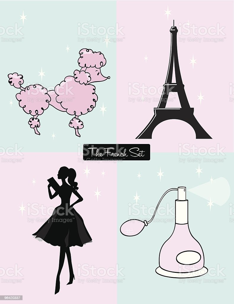 The French Set royalty-free stock vector art