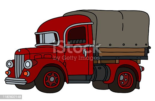 istock The funny old red truck 1182602148