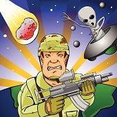 Ilustración de Hombre De Sombrero De Aluminio Paranoico Buscando ... 24131736041