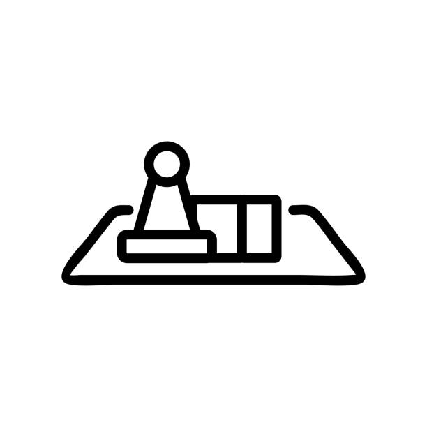 the game table icon vector outline illustration the game table icon vector. the game table sign. isolated contour symbol illustration backgammon stock illustrations