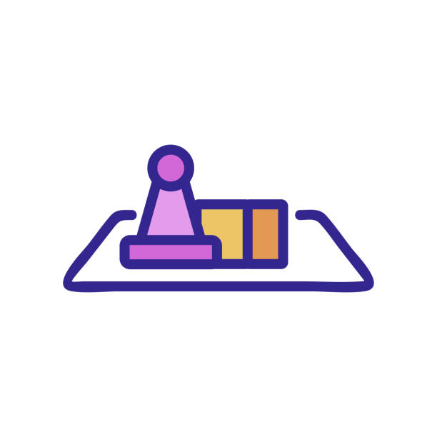 the game table icon vector outline illustration the game table icon vector. the game table sign. color isolated symbol illustration backgammon stock illustrations