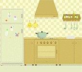 The gas hob kitchen
