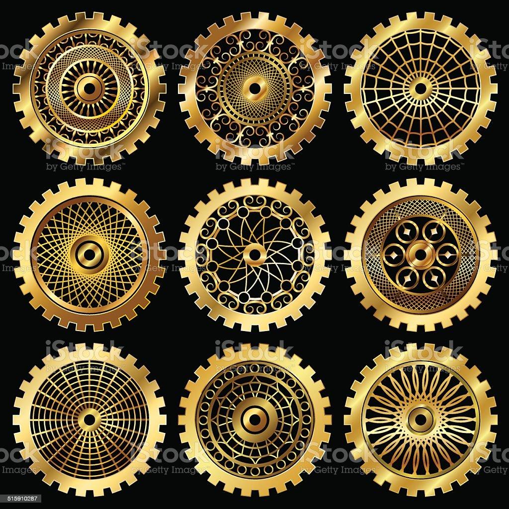 the gears vector art illustration