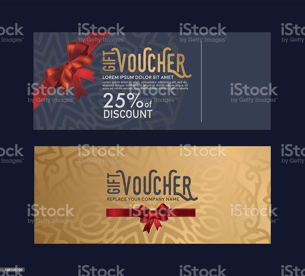 The gift card is elegant, stylish and unique. vector art illustration