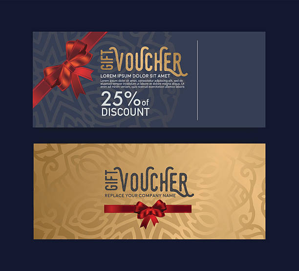 the gift card is elegant, stylish and unique. - black tie events stock illustrations, clip art, cartoons, & icons