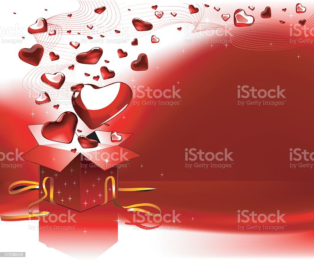 The gift of love royalty-free stock vector art