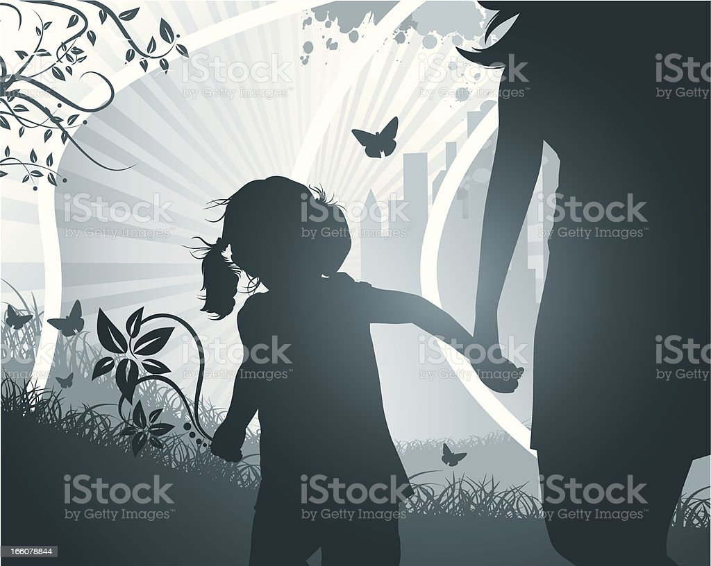 The Girl and her Mother royalty-free the girl and her mother stock vector art & more images of abstract