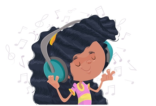 The girl and the music