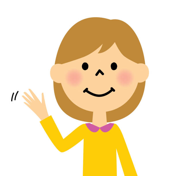Best Woman Waving Goodbye Illustrations, Royalty-Free ...