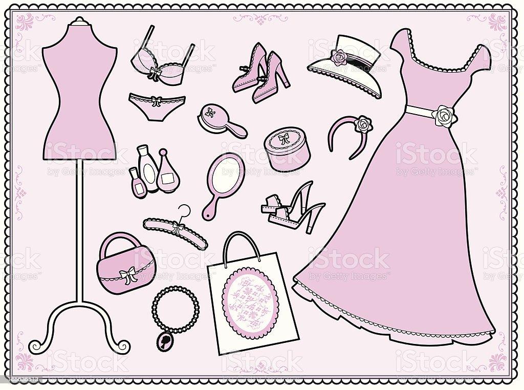 The Girly Set royalty-free stock vector art