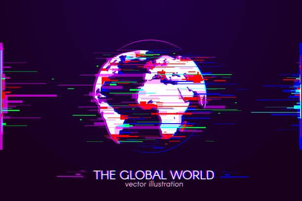 Die globale Welt – Vektorgrafik