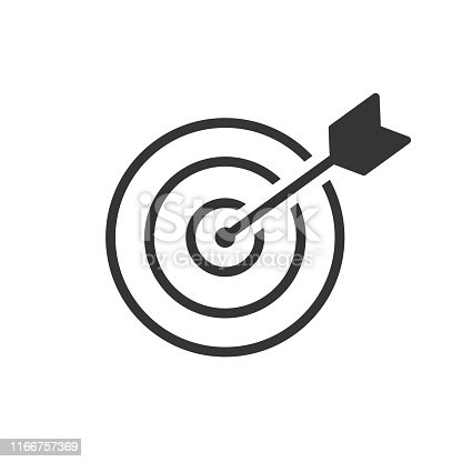 istock The goal is to fight for success. Icon-vector 1166757369