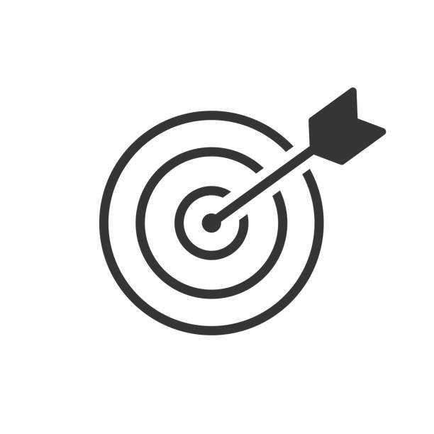 the goal is to fight for success. icon-vector - goals stock illustrations