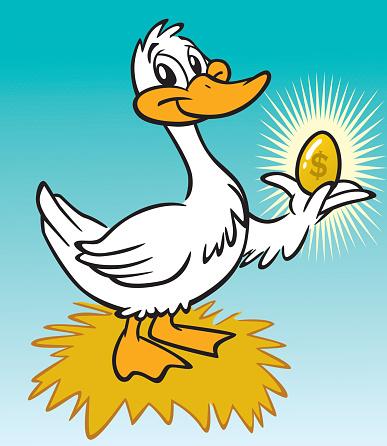 The Golden Goose Stockvectorkunst en meer beelden van Aspiraties