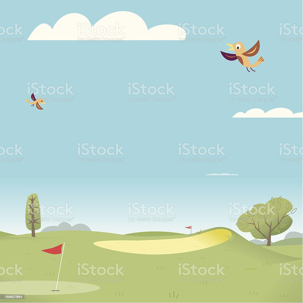 The Golf Course royalty-free the golf course stock vector art & more images of business