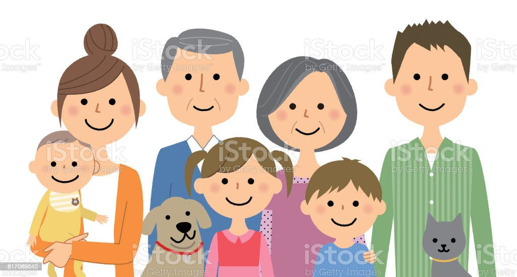 The good family vector art illustration