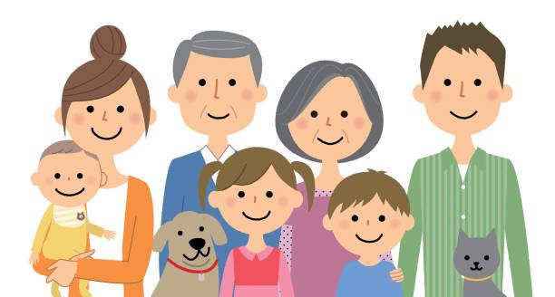 良い家族 - 家族点のイラスト素材/クリップアート素材/マンガ素材/アイコン素材