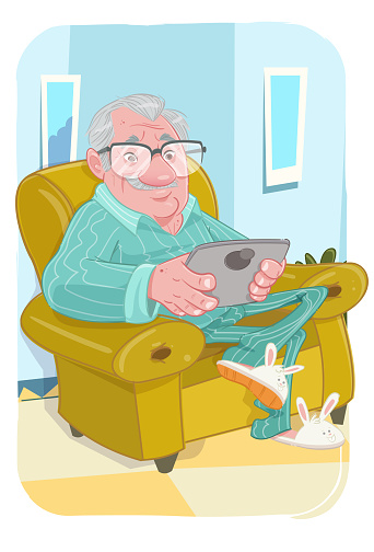 The Grandpa on tablet