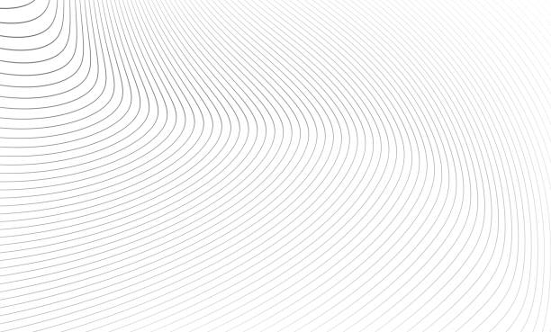 the gray pattern of lines. - abstract art stock illustrations