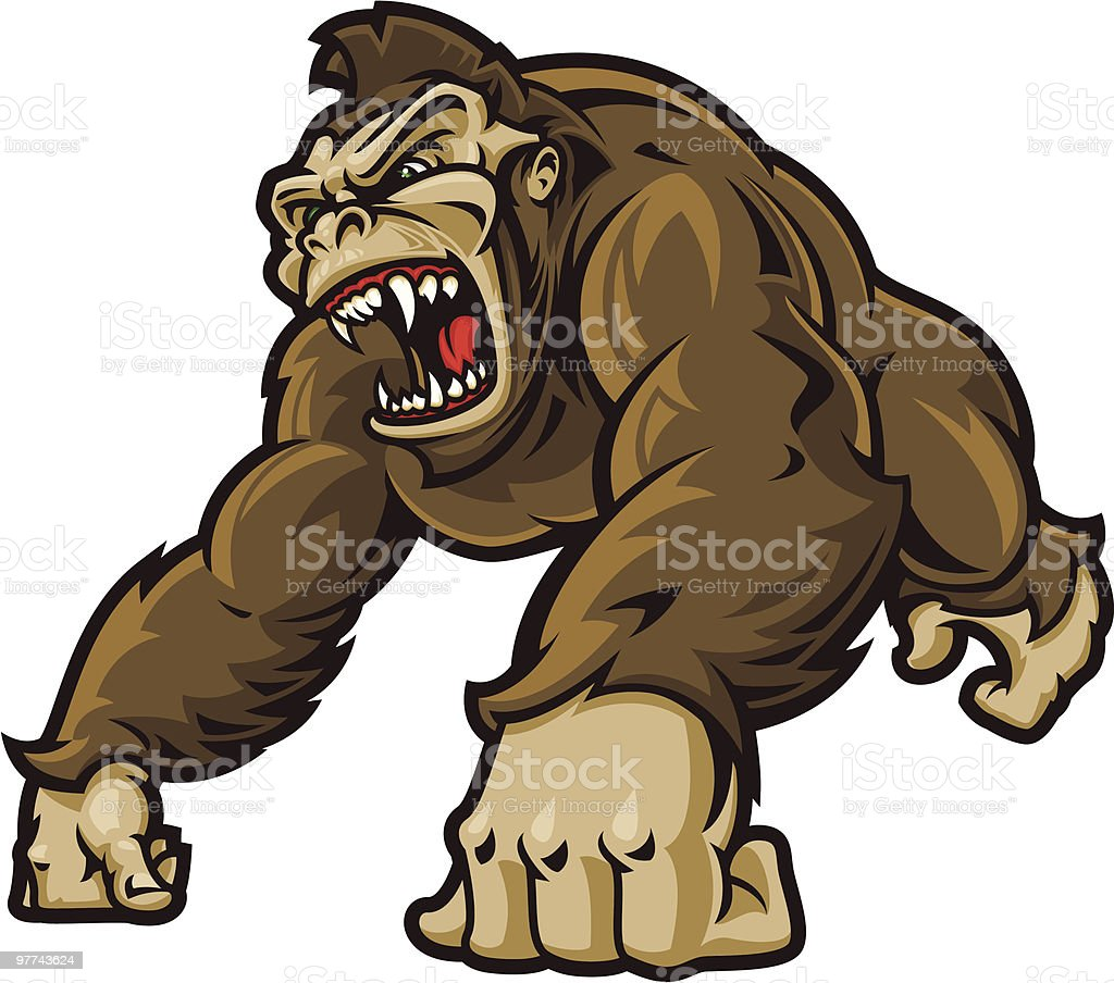 The Great Ape Stock Vector Art Amp More Images Of Aggression