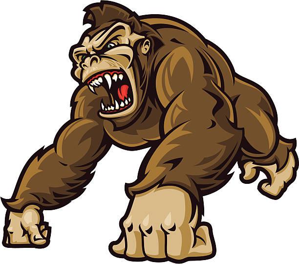 の素晴らしい類人猿 ベクターアートイラスト