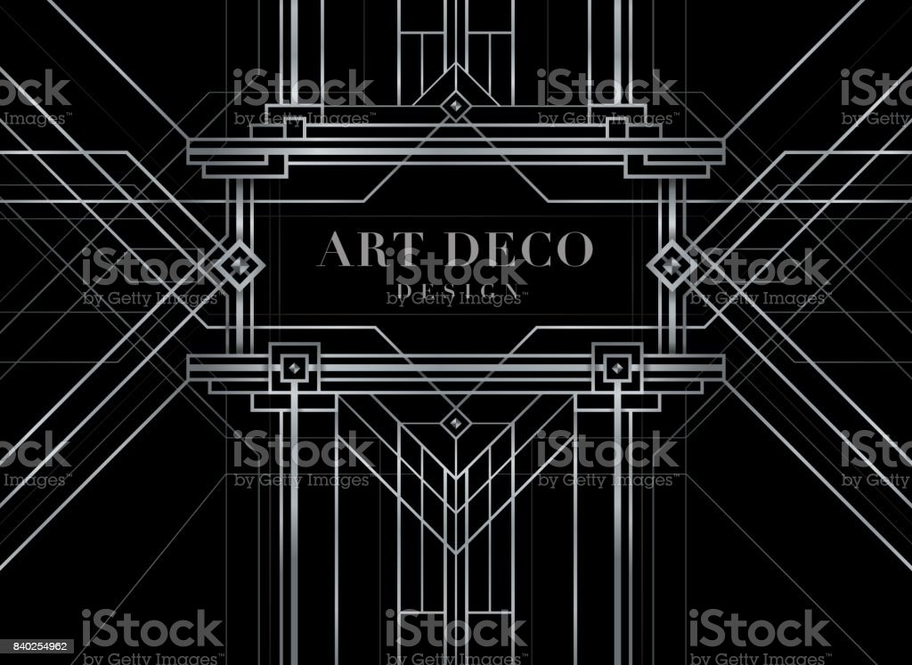 The Great Gatsby Deco Style Vector Abstract Geometric ...