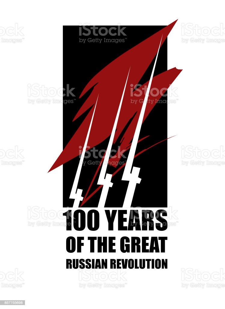 Der große russische Revolution. 100 Jahre – Vektorgrafik