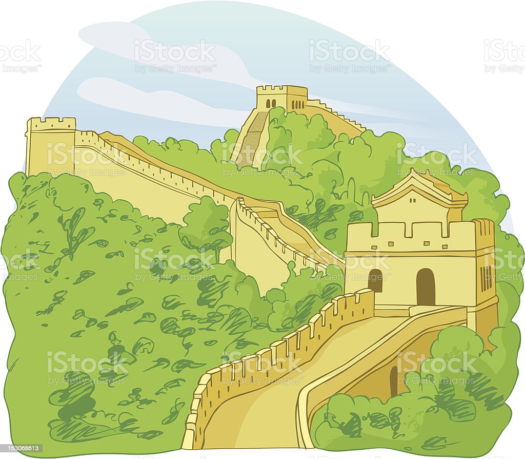 The Great Wall Of China Stock Vector Art & More Images of Ancient ...