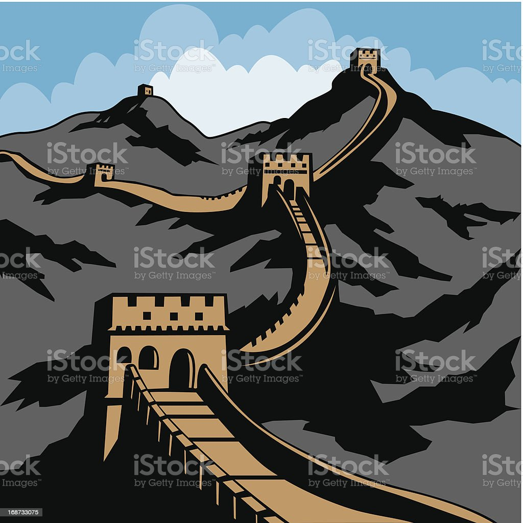 The Great Wall vector art illustration & Royalty Free Great Wall Of China Clip Art Vector Images ...