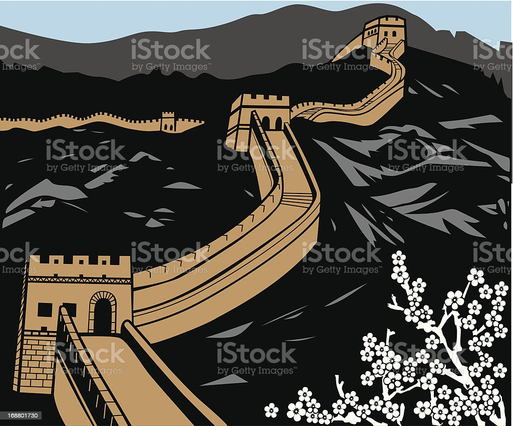 The Great Wall royalty-free stock vector art