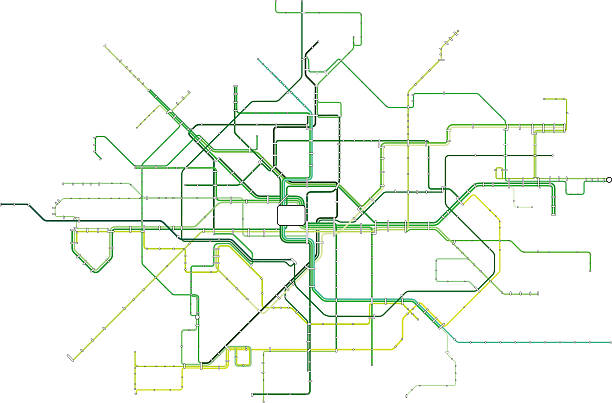 The Green Line vector art illustration