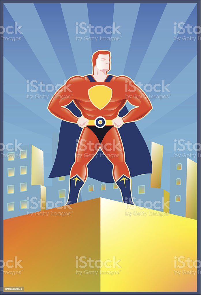 The Guardian royalty-free stock vector art
