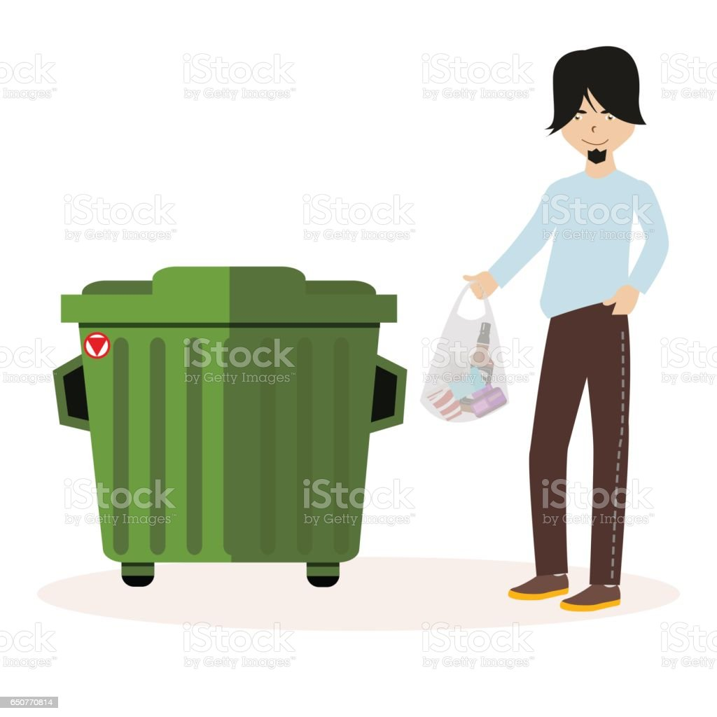 royalty free person in dumpster clip art vector images rh istockphoto com garbage dumpster clipart dumpster clip art free
