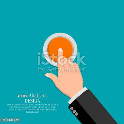 istock The hand in a suit 521431772