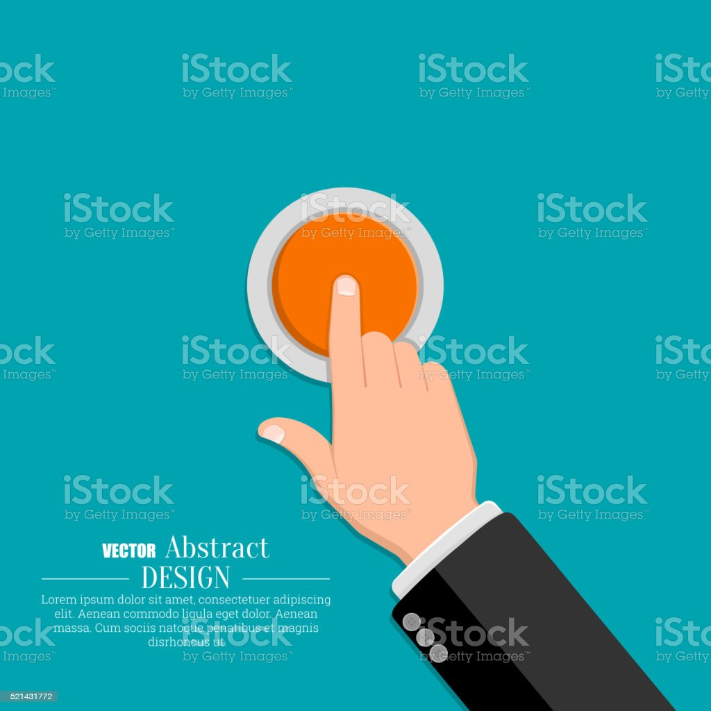 The hand in a suit vector art illustration