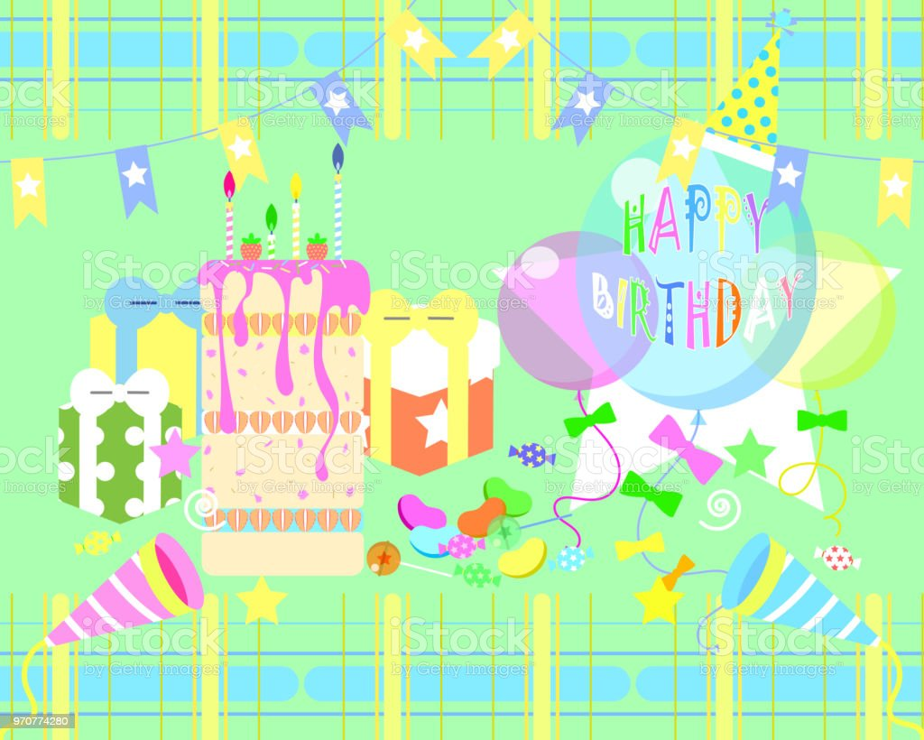 The Happy Birthday Greeting Card Background Stock Vector Art More