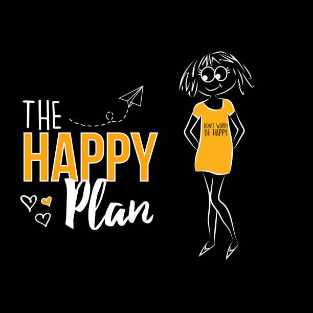 The Happy Plan vector art illustration