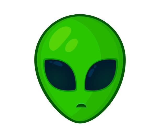 stockillustraties, clipart, cartoons en iconen met het hoofd en het gezicht van de buitenaardse formulier eenvoudig. - buitenaards wezen