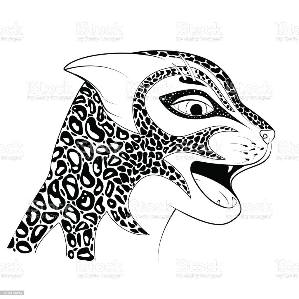 Vahşi Bir Kedi Başkanı Zen Dolaştırmak Bir çita Benekli Bir Jaguar