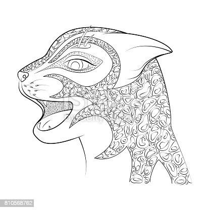 Ilustración de La Cabeza De Un Gato Salvaje Guepardo Libro Para ...