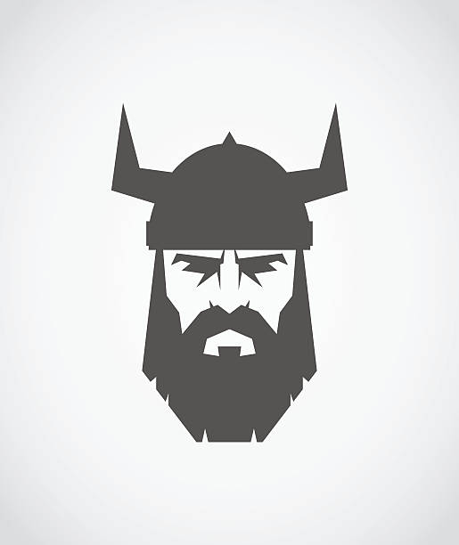 The head of Viking wearing a helmet The head of Viking wearing a helmet chess knight silhouette stock illustrations