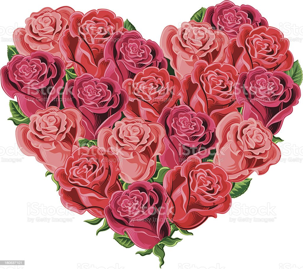 the heart of roses royalty-free stock vector art