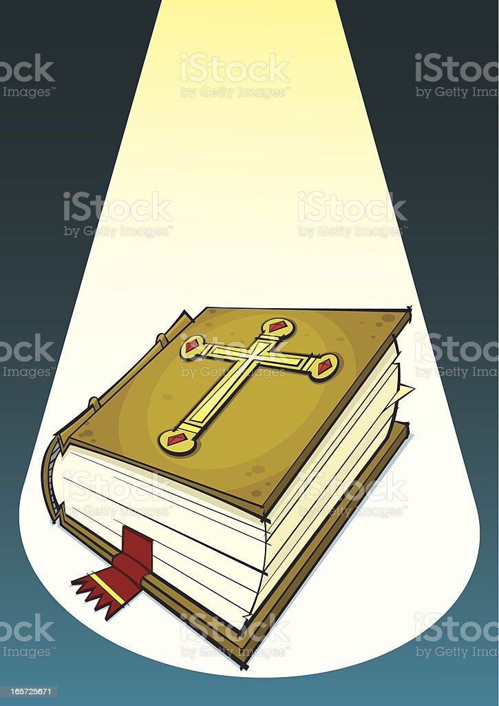 The Holy Bible vector art illustration