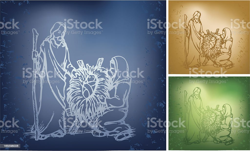 The Holy Family royalty-free stock vector art