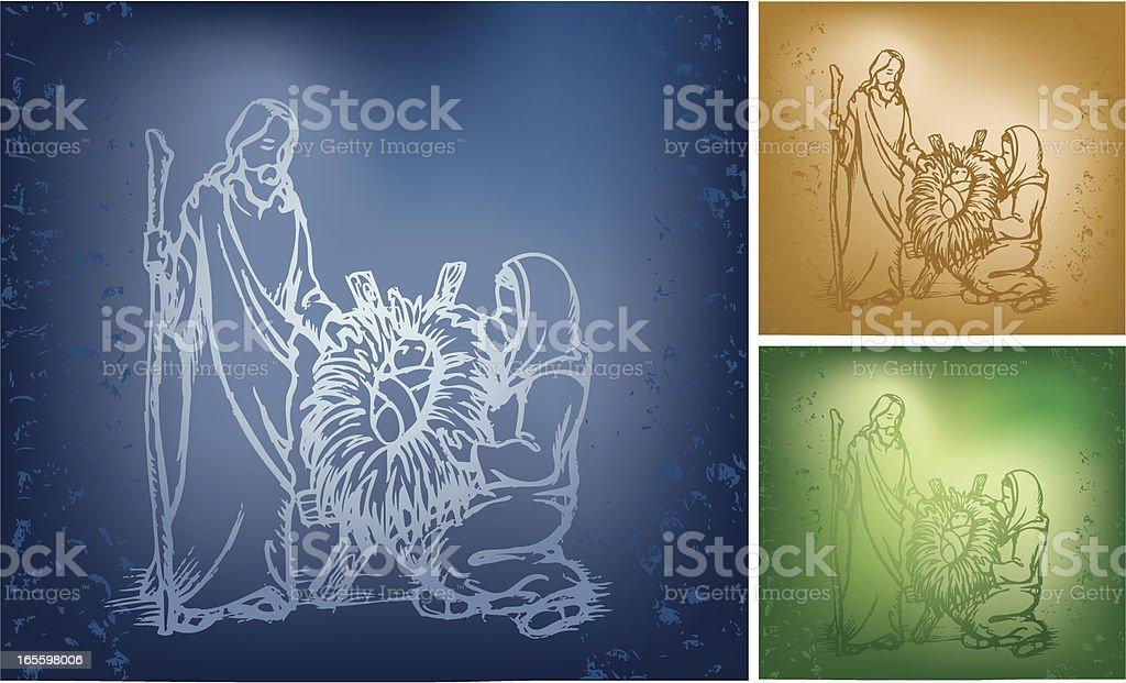 La Sagrada Familia ilustración de la sagrada familia y más banco de imágenes de azul libre de derechos