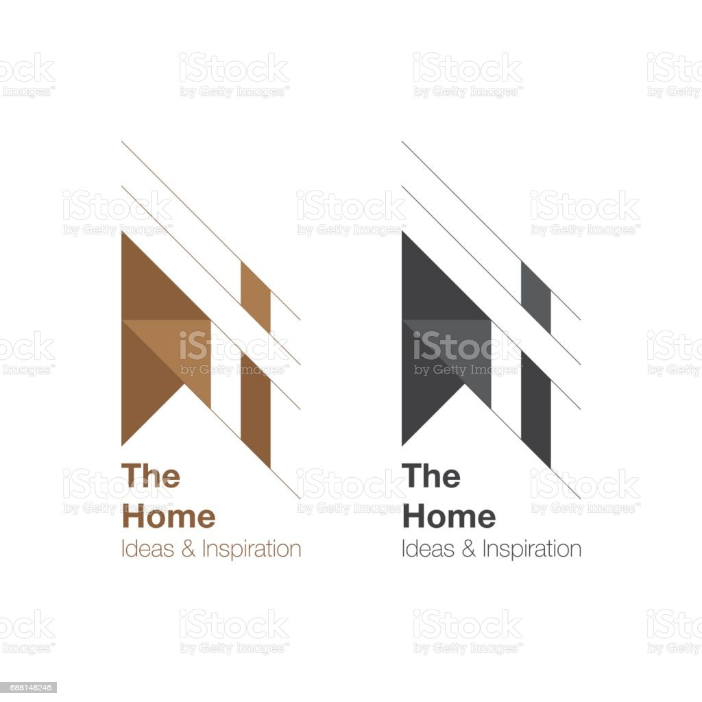 The Home and interior  design. vector art illustration