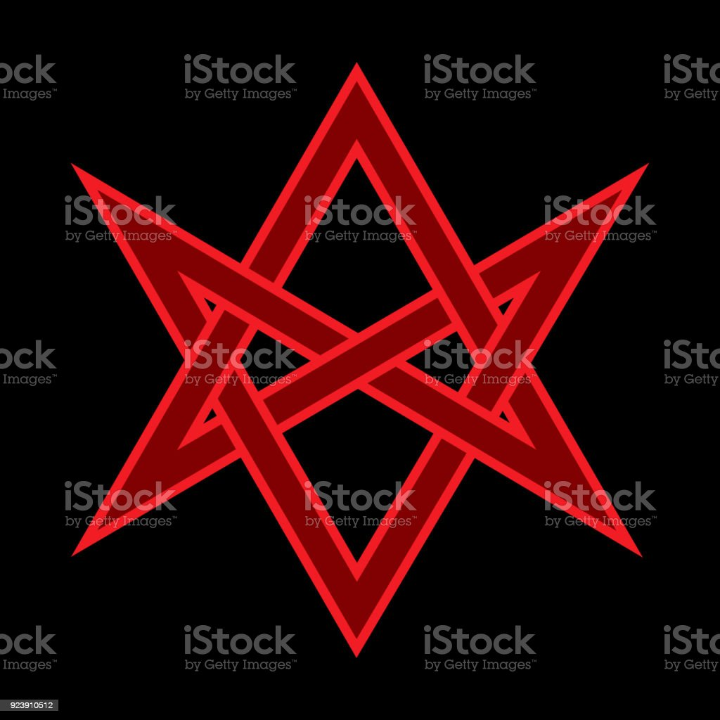 The Horns Of Asmodeus Or The Horned Head Mystic Occult Sign Of Black