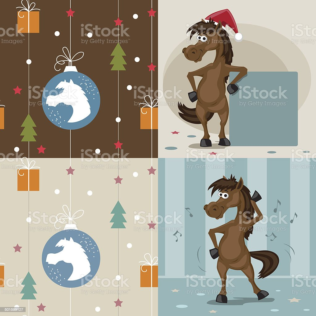 the horse is a symbol of the new year royalty-free the horse is a symbol of the new year stock vector art & more images of 2014