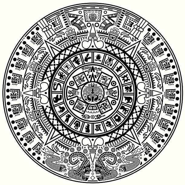 Aztec Calendar Illustration : Royalty free aztec calendar clip art vector images